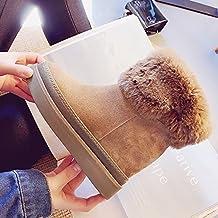 NSXZ chaussures coréenne a augmenté chaussures en cuir à fond épais dans la pente de tube avec des bottes de neige bottes en daim dans la nouvelle