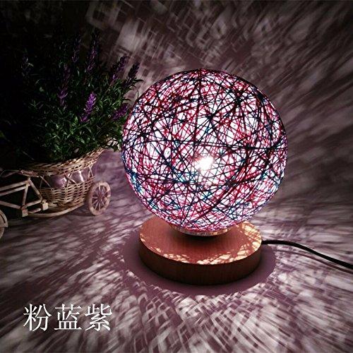 Ehime Schlafzimmer Nachttischlampe Wohnzimmer Studie modernen minimalistischen Persönlichkeit kreative kleine Lampen Nordic Hochzeit Dekoration der Tabelle leicht rosa Blau Lila