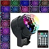 Anpro Discokugel Discolicht mit 15 Beleuchtungsform, Partylicht Led Disco Ball Light Disco Lichteffekte RGB LED Partybeleuchtung für halloween deko, Kinder Geburtstag Club Party