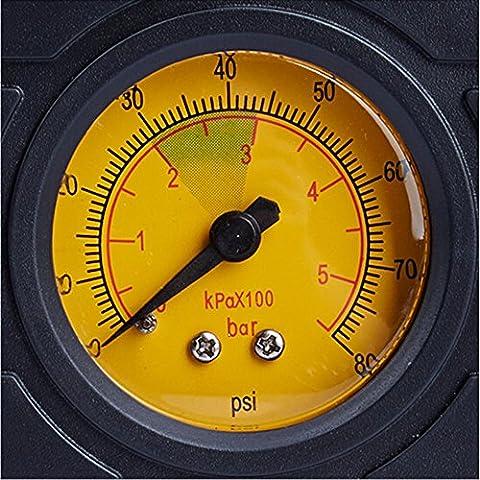 EC-5da 12Volt Compressore Portatile–per le sigarette spina compatto e veloce Air Inflator con manometro 80PSI–Pompa Ad Aria/Tire riparazione Tool Kit per auto. Ideale per auto, camion, SUV, bicicletta o moto, Caravan, campeggio letti, articoli sportivi, Giocattoli e più - Compatto Suv