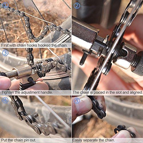 Fahrrad Ketten Werkzeug,Furado Verstellbar Fahrrad Kettennieter, Qualitativ Hochwertige Edelstahl Werkzeug Kettennietdrücker, Fahrrad Ketten Entferner Werkzeug für Fahrrad/Radsport (schwarz ) - 4