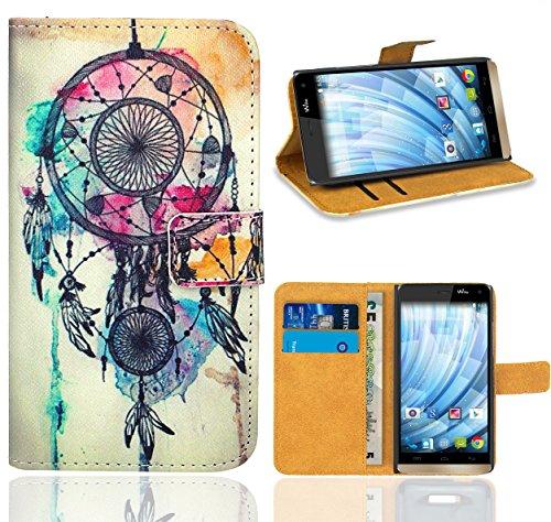 FoneExpert® Wiko Getaway Handy Tasche, Wallet Case Flip Cover Hüllen Etui Ledertasche Lederhülle Premium Schutzhülle für Wiko Getaway