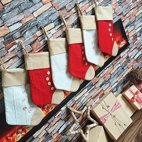 ümpfe, 45,7 cm, Einzigartige Strick-Sackleinen, personalisierbar, groß - Weihnachtsdekoration, Familien-Ornamente und Kamin, Urlaubsdekoration. ()