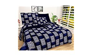 VYBBA Microfiber 144 TC Bedsheet (Double Bedsheet with 2 Pillow Cover Multicolour)