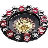 Jonquin Shot Glass Roulette - Drinking Game Set (2 Balls And 16 Glasses)