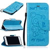 nancen Apple iPhone 5/5S/Si (4,0 pollici) alta qualità PU Pelle Flip Cover, [, motivo orso Serie – Don' (Double Dragon Mobile)