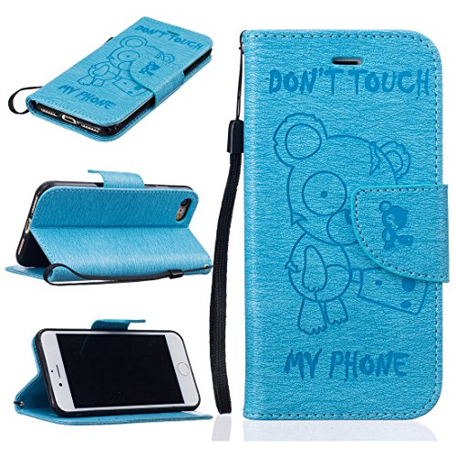 nancen Apple iPhone 5/5S/Si (4,0 pollici) alta qualità PU Pelle Flip Cover, [, motivo orso Serie - Don' (Double Dragon Mobile)
