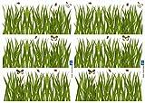 Décoration adhésive 157001 Herbe, Polyvinyle, Vert, 21 x 0,1 x 29,6 cm