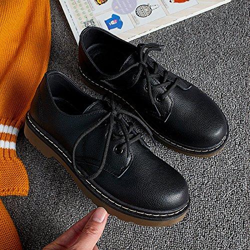 Les chaussures de femmes, chaussures occasionnels, en Angleterre, les étudiants confortables dentelle fond plat d'hiver