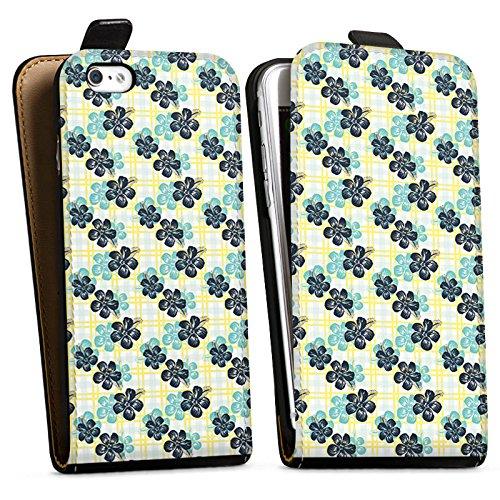 Apple iPhone X Silikon Hülle Case Schutzhülle Blumen Sommer Surfen Downflip Tasche schwarz
