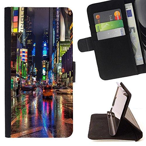 momo-phone-case-flip-funda-de-cuero-case-cover-broadway-street-ciudad-de-nueva-york-luces-de-lluvia-