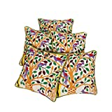 Rajrang Home Decor Off White Cotton Embroidered Cushion Cover - B00UYIFKHQ