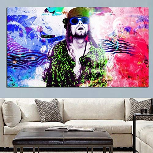 Hd Print Music Kurt Cobain Psychedelic Dreamy Abstract