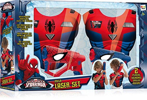 Spiderman 550902 - Mega Laserset Cd-player Für Kinder Spiderman