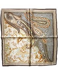 Nella-Mode wunderschönes & elegantes NICKITUCH, Tuch, Halstuch Paisley-Muster, 53x53 cm, Braun