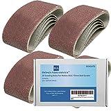 Bond Abrasives Schleifbänder für Makita 9911, 75 mm, für Bandschleifer, 120 Körnung (fein), 20 Stück