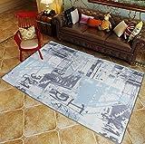 KK&MM Trend Big Teppich Polyester Spule Wohnzimmerboden Matten Ultra-Thin Square Couchtisch Sofa Anti-Rutsch-Matte, I, 120*170