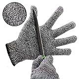 Schnittschutzhandschuhe Kinder küche Hochleistung Schnittschutz Handschuhe Leicht 5 Handschutz Ebene lebensmittelecht schnittfeste Handschuhe (M)