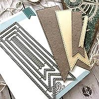 wiFndTu Cutting Dies, Frame Background Metal Cutting Dies DIY Scrapbook Paper Cards Album Art Stencil For Scrapbooking DIY Album Paper Card Art Craft Decor Silver