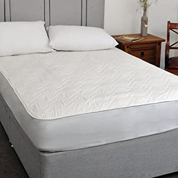 luxury keep cool natural cotton mattress protector breathable with 3d air relax technology double amazoncouk kitchen u0026 home - Breathable Mattress
