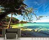 Vlies Fototapete - Tropical beach under blue sky - Thailand - 230x150 cm - inklusive Kleister - Tapetenkleister – Bild auf Tapete – Bildtapete – Foto auf Tapeten – Wand – Wandtapete – Vliestapete – Wanddeko - Design