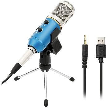 Microfono Usb a Condensatore Professionale Microfono di Registrazione Mic Condensatore Audio Podcast Studio Mic per Computer PC Laptop - Nero