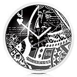 Quietness @ Reloj de pared sin movimiento creativo creativo colorido de No-tictac Poker /12 pulgadas/ caja de metal blanco