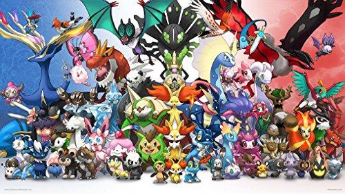 Pokemon Go 000 Waterproof Plastic Poster Poster di Plastica Impermeabile - Anti-Fade - Possono utilizzare su Outdoor/Giardino/Bagno
