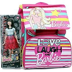 barbie - Mochila infantil rosa rosa