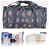 Pre-packed Essentials hospital/maternity/holdall for Mum & Baby - navy owls - NEXT WORKING DAY* DELIVERY AVAILABLE (order by midday)