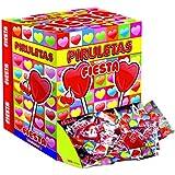 Fiesta - Piruletas piruletas en forma de corazon, 80 x 13 g