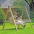 Gartenpirat Hollywoodschaukel 190 x 164 x 198 cm 2-Sitzer Holz von Gartenpirat - Gartenmöbel von Du und Dein Garten