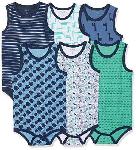 Care Baby - Jungen Achselbody im 6er Pack Blau (Dress Blues 772), Herstellergröße: 92