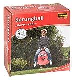 Idena 40093 - Sprungball Happy Face, 45-50 cm, rot