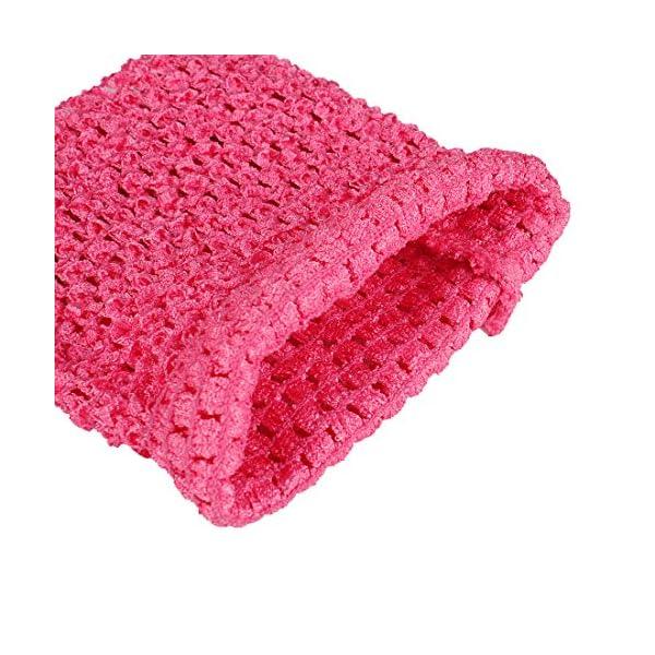 Kelis 6 Pulgadas Colores Surtidos bebé niña Crochet tutú Tubo Tops Pecho Wrap Wide Crochet Diademas Pack de 4 3