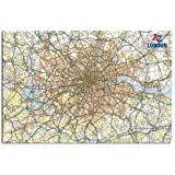 A - Z London Map Wall Chart Poster Gloss Laminated - 91.5 x 61cms (36 x 24 Inches)