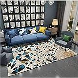 XIEPEI Teppich für Wohnzimmer, Schlafzimmer, Nachttisch, rechteckig, rutschfest, Geometrie 25, 50 x 80 cm