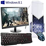 """ULTRA FAST 4.0GHz Quad Core AMD Desktop Gaming Office Home Family PC Computer (Wifi, 8GB RAM, 1TB Hard Drive, Radeon R7 240 2GB Graphics, Windows 8.1 64-Bit, Gaming Keyboard and Mouse, 21.5"""" Monitor) - 194391"""