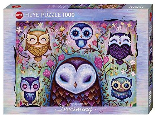 Heye- Puzzle Great Big Owl Sognare Jeremiah Ketner, 1000 Pezzi, VD-29768