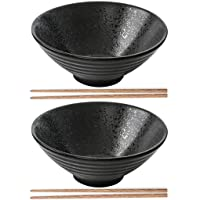 Vaisselle de cuisine japonaise coréenne vintage Bol à nouilles Bol de riz Bol japonais en céramique noire Bol à nouilles…