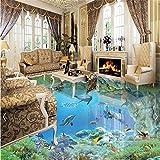 LHDLily 3D Tapete 3D Wallpaper Fresken Wandbilder Verdicken Zimmer Wohnzimmer Badezimmer Im Einklang Benutzerdefinierte Hd Unterwasser Boden 300Cmx200Cm