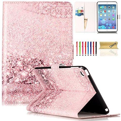 iPad Mini 4th Generation Hülle, Dteck(TM) Apple iPad Mini 4 Hülle Smart Buchstill Ständer Schutzhülle mit Kartenschlitz Magnetische Brieftasche Abdeckung für Kinder Mädchen Frauen, Rosa Diamant (Ipad Mini, Magnetische Abdeckung Apple)