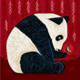 La Panda e la farfalla - stampa poster d'arte di Oliver Lake