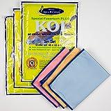 AQUA CLEAN Koi Mikrofaser Tuch Spezialfaser, zum Reinigen Trocknen Polieren, Set 9-teilig (3x 3 Stück), 45x33cm