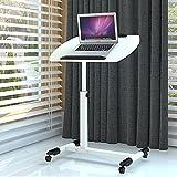 HAKN Table se pliante / table portative d'ordinateur / bureaux de levage se pliants / bureaux mobiles / tables se pliantes universelles ( Couleur : Blanc )
