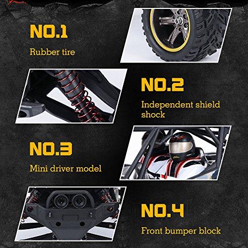 RC Auto kaufen Truggy Bild 3: GPTOYS Ferngesteuertes Fahrzeug RC Autos 1:12 Skala 2WD 2.4 GHz 26+MPH Halb-Wasserdicht Monstertruck Geländewagen --- Geschenk für Kinder*