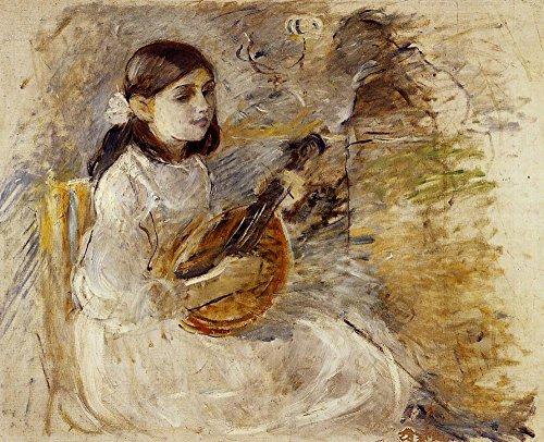 Das Museum Outlet-Mädchen Spielen der Mandoline-1890-Poster Print Online kaufen (152,4x 203,2cm)