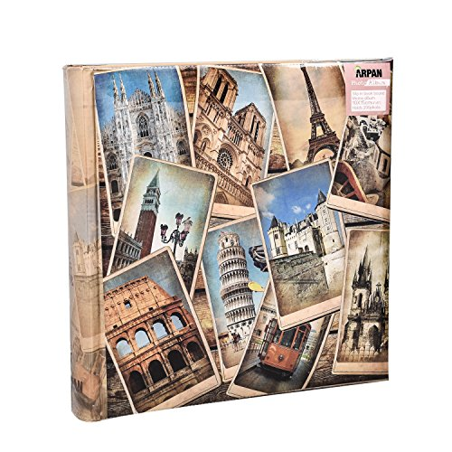 arpan-10-x-15-cm-vintage-collage-uk-european-travel-memo-photo-album-for-200-photos-4-x-6