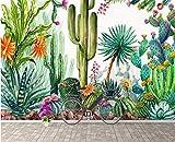3d papier peint Photo Large personnalisées panoramique personnalisés papier peint 3d Grande HD papier peint Tropical Plante tropicale Cactus Fleurs Mode papier peint 3d