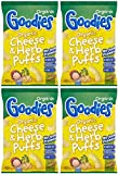 (4 PACK) - Goodies Goodies Cheese & Herb Curly Puffs (12+) | 6 X 15g | 4 PACK - SUPER SAVER - SAVE MONEY